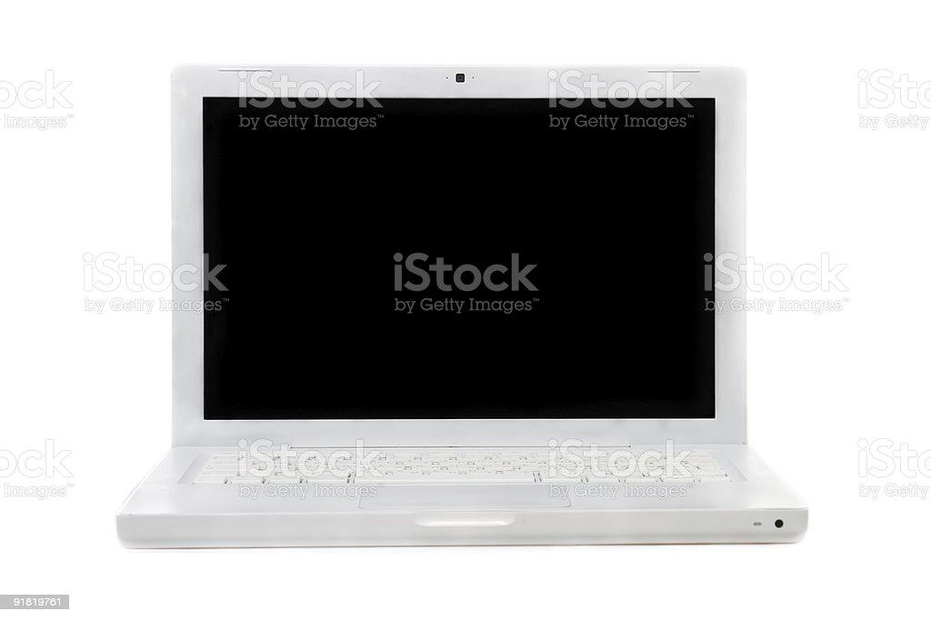 White laptop stock photo
