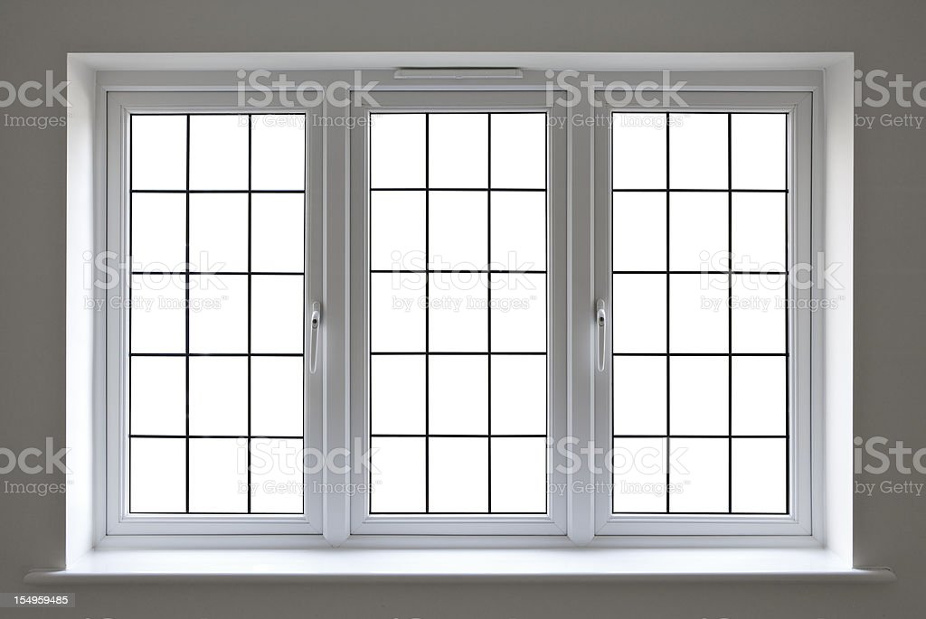 white leaded glass window royalty-free stock photo