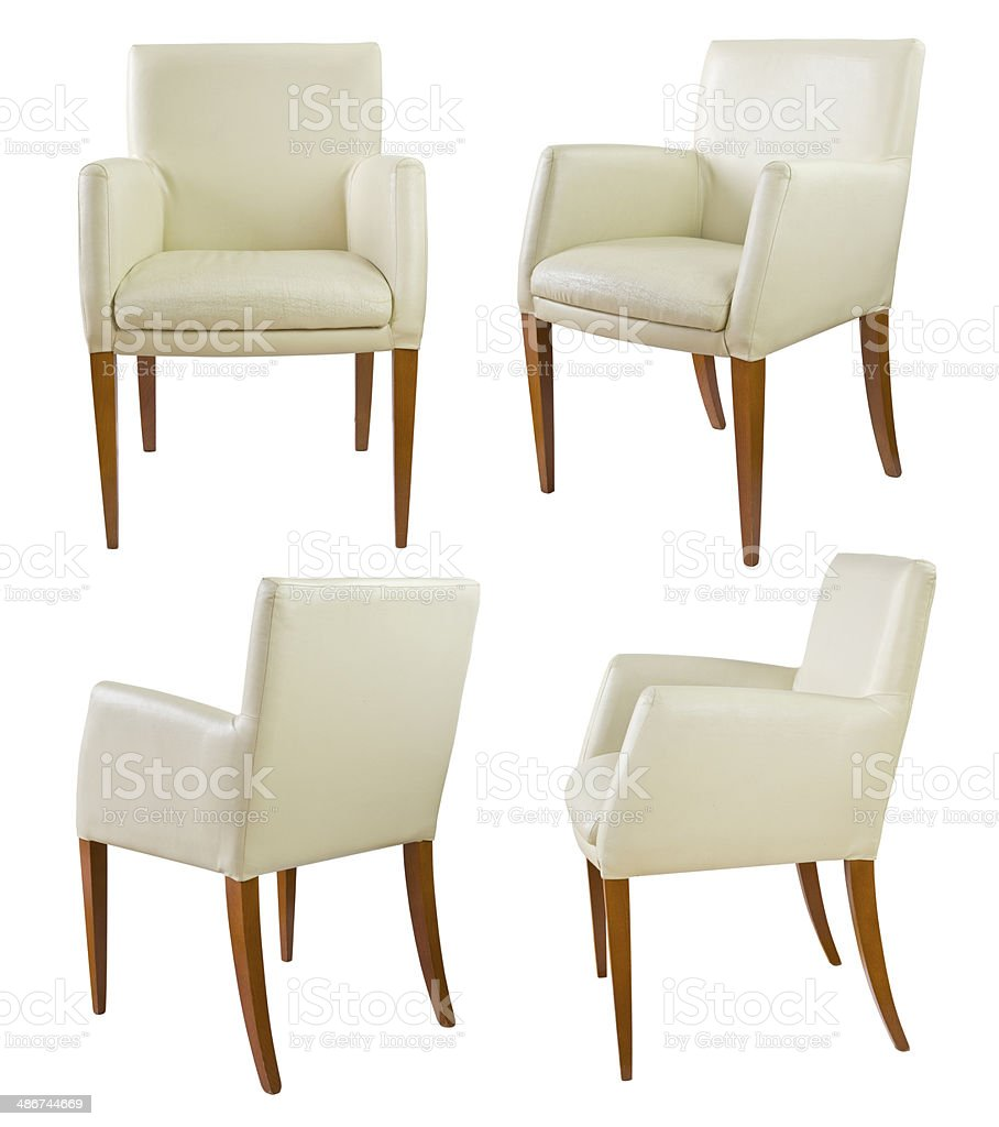 white leather chair  VOL. 1 stock photo
