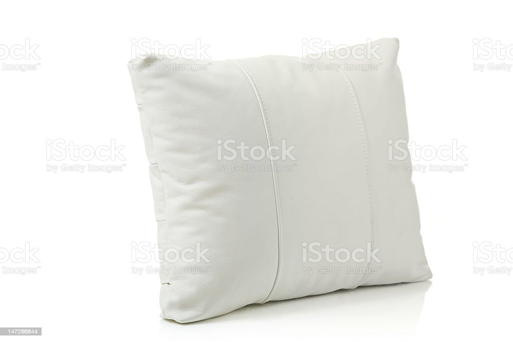 White leather pillow royalty-free stock photo