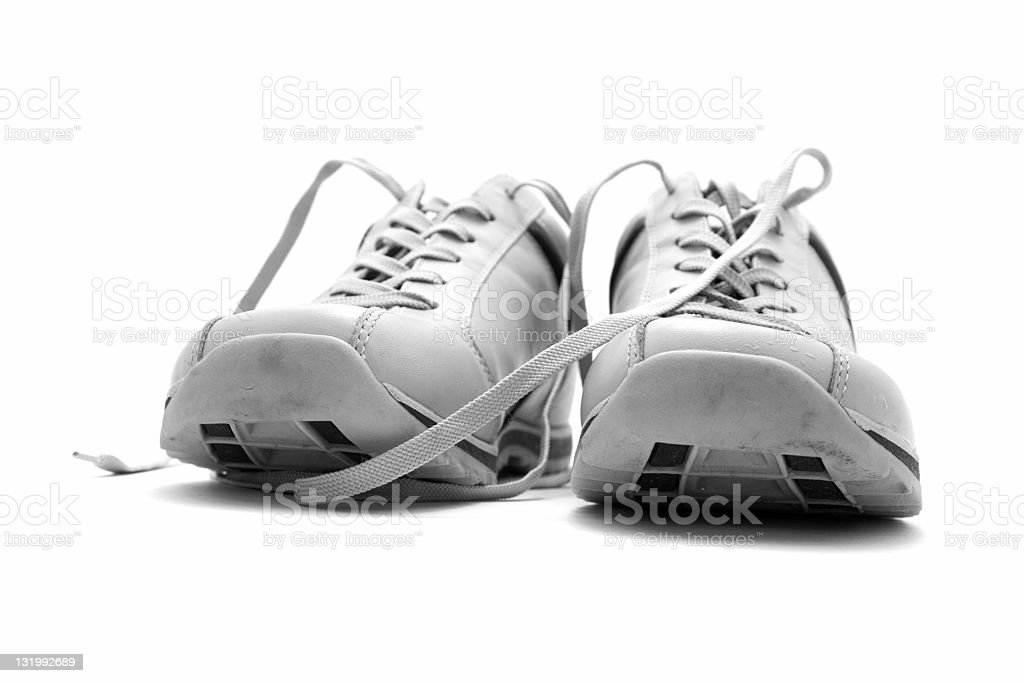 White leather shoes royalty-free stock photo