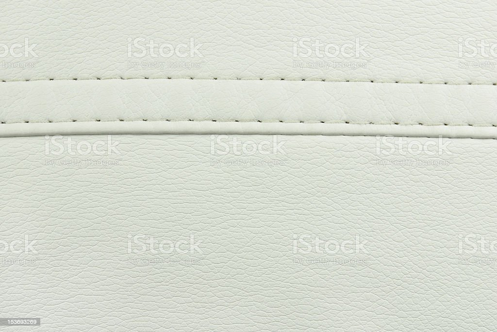 white leather with seam texture royalty-free stock photo