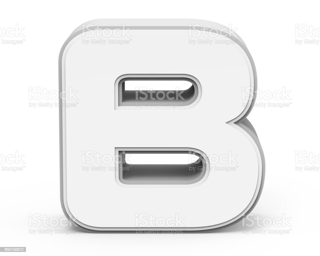 white letter B stock photo