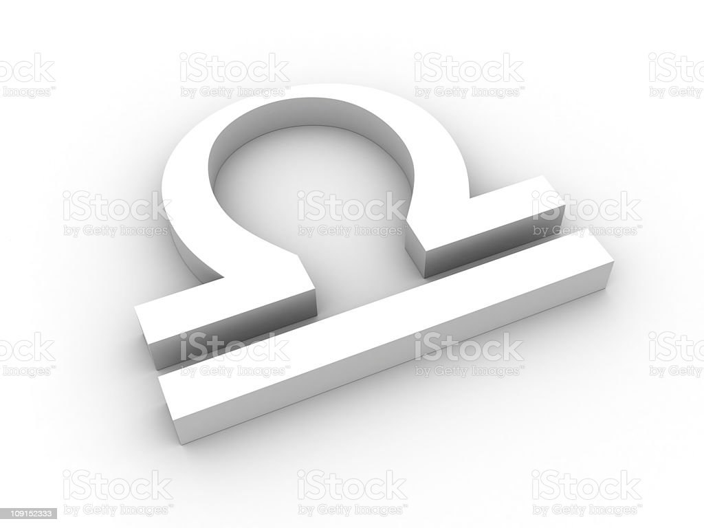 White libra symbol royalty-free stock photo