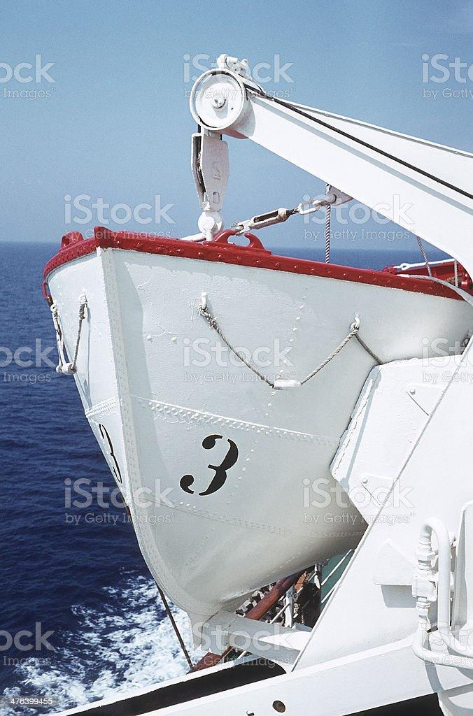White lifeboat royalty-free stock photo