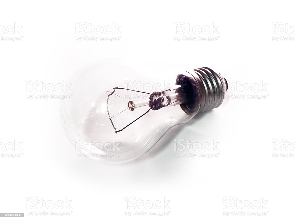 White light bulb royalty-free stock photo
