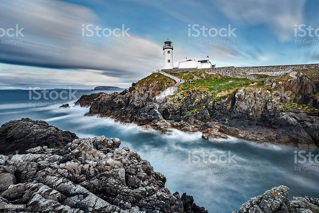 White Lighthouse, Fanad Head, County Donegal, North Ireland stock photo