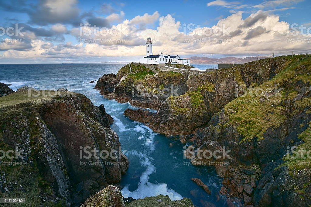 White Lighthouse, Fanad Head, County Donegal stock photo