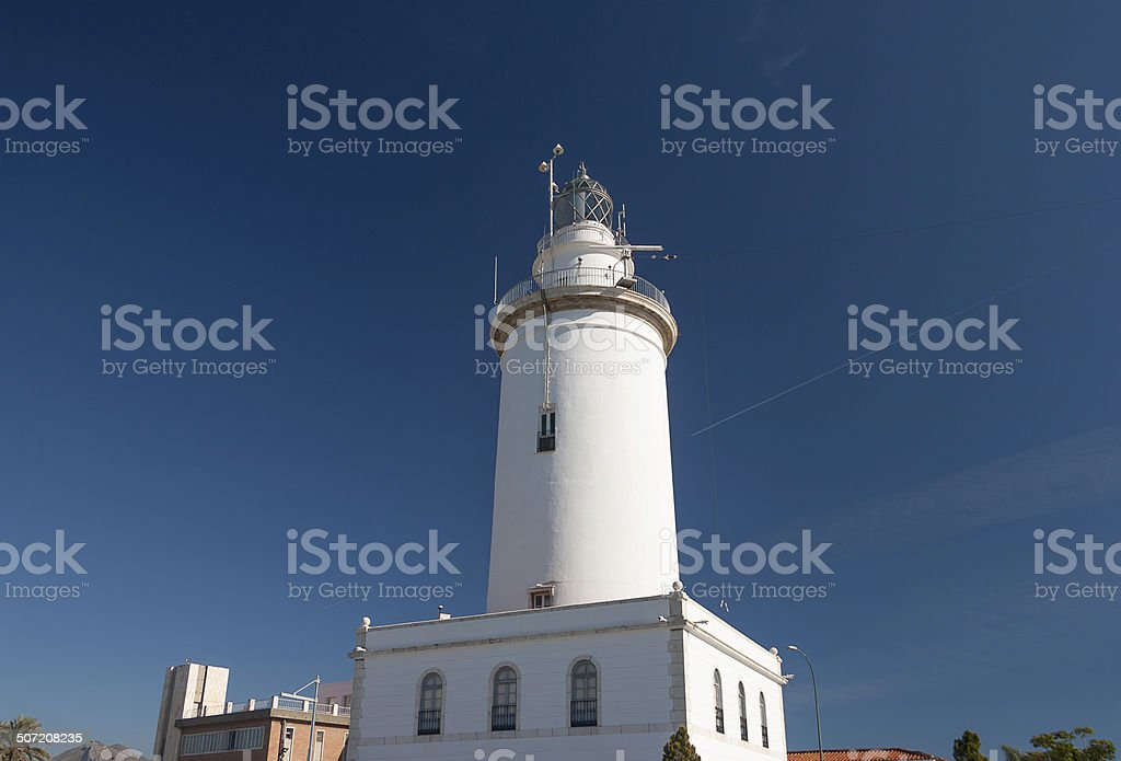 White lighthouse royalty-free stock photo