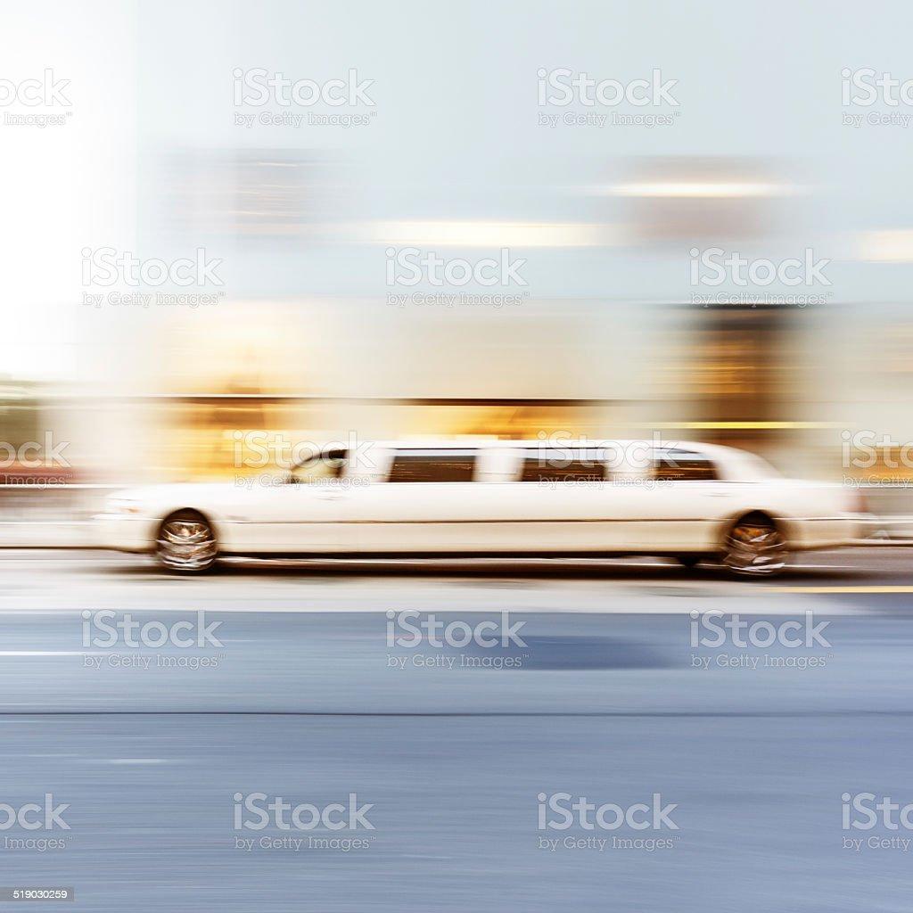 White Limousine stock photo