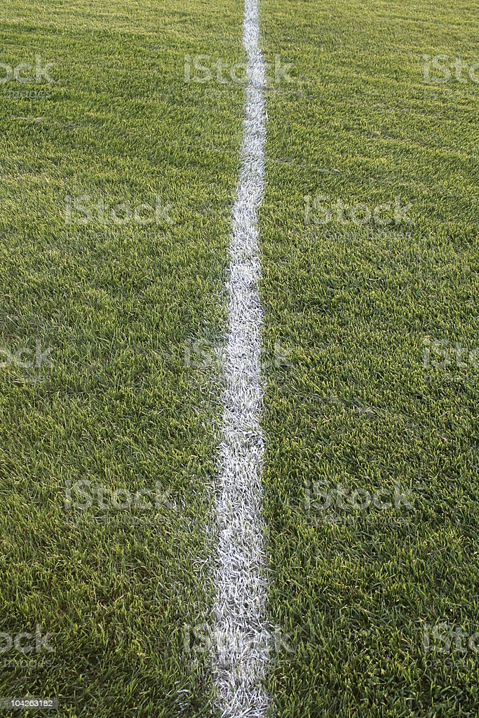 White Line, Green Field royalty-free stock photo