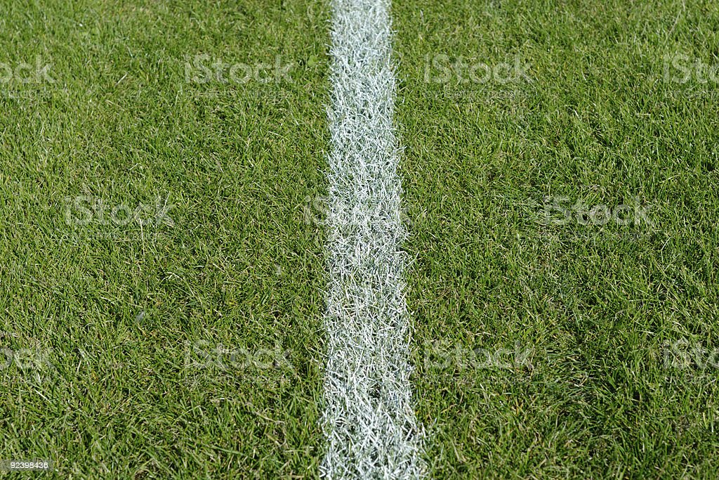 White line on a soccer field royalty-free stock photo