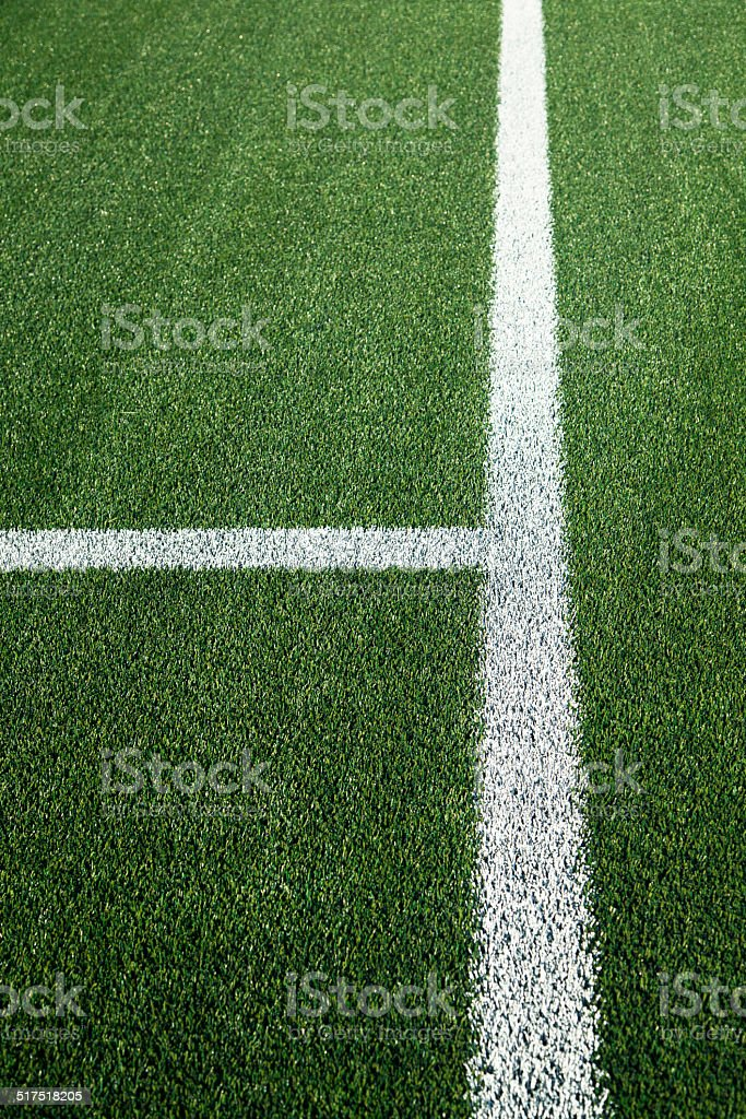 White Line On A Sports Field stock photo