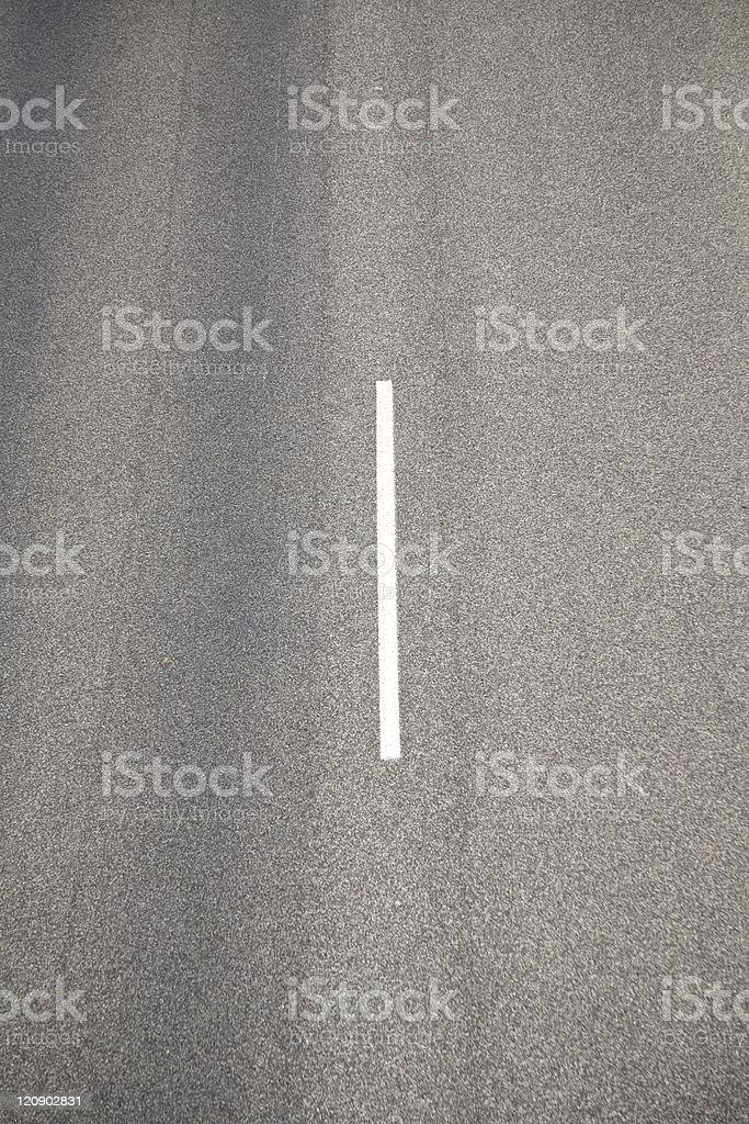 white line on asphalt royalty-free stock photo