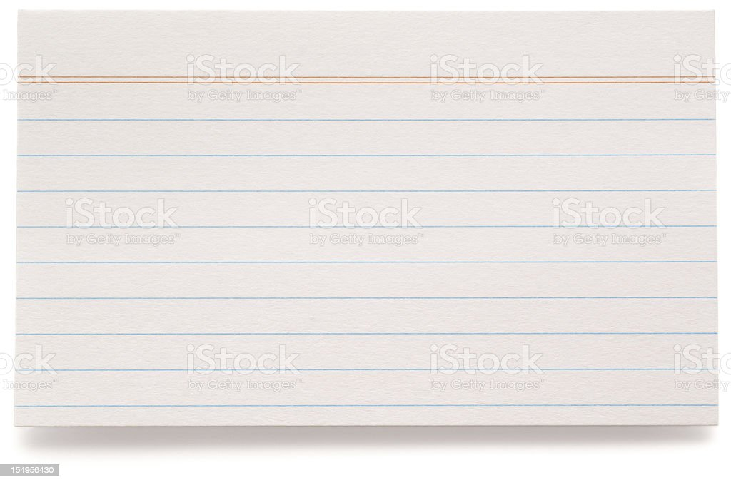 Index Card stock photo