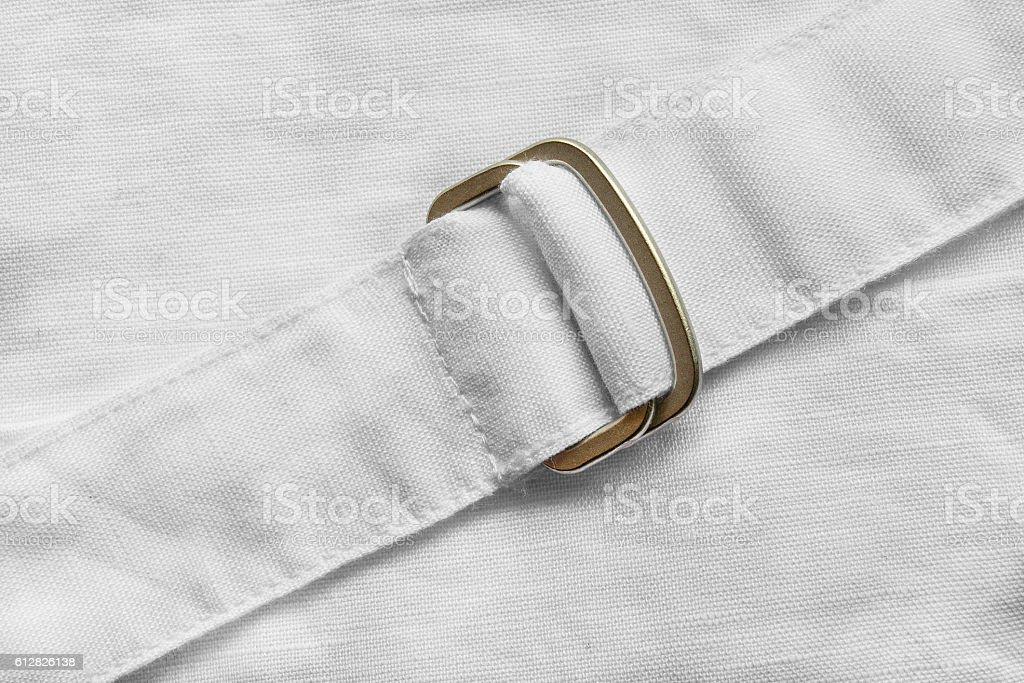 White linen belt stock photo