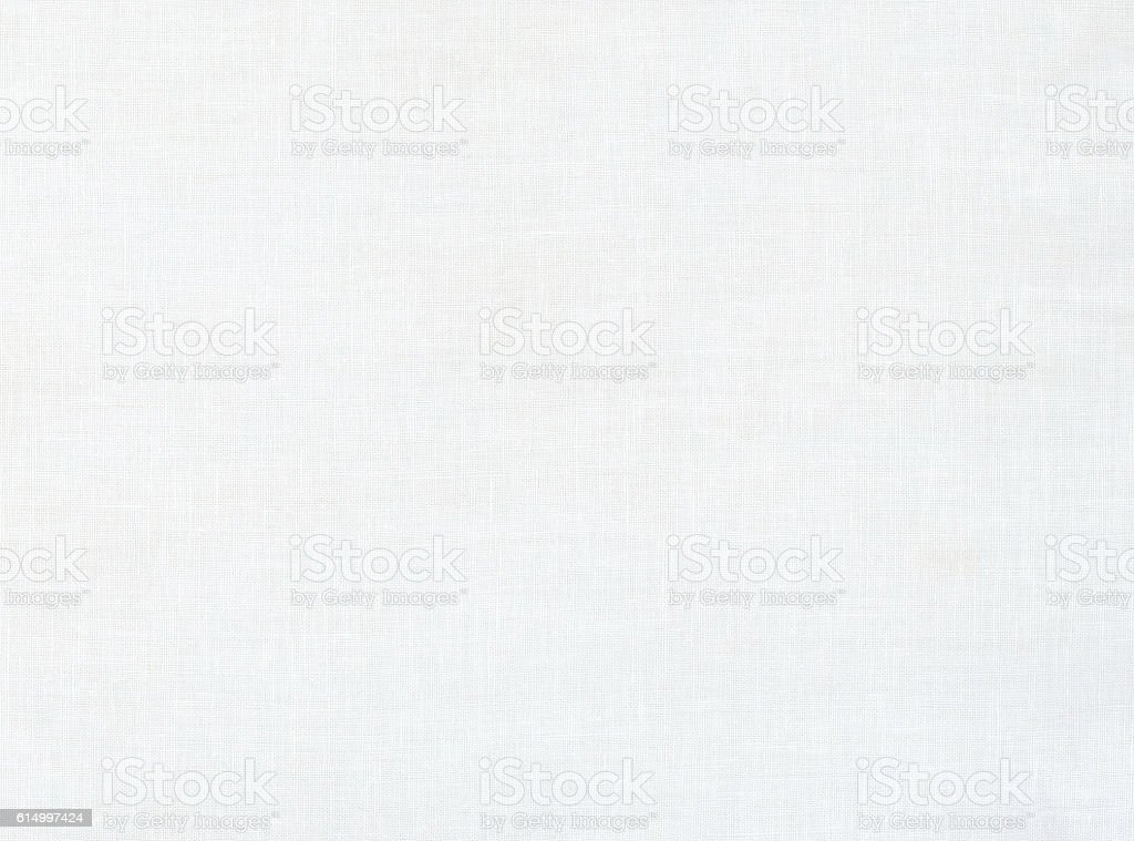 White linen fabric texture background stock photo