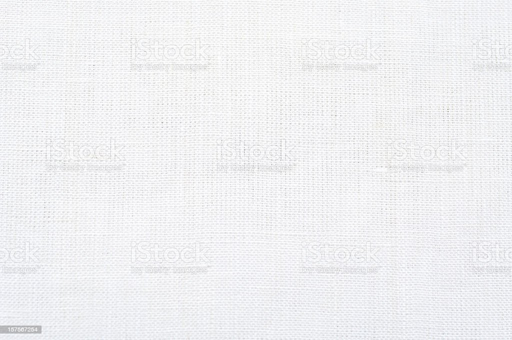 White linen tablecloth stock photo