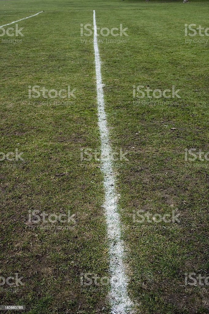 White lines - rugby/soccer/football pitch/field royalty-free stock photo