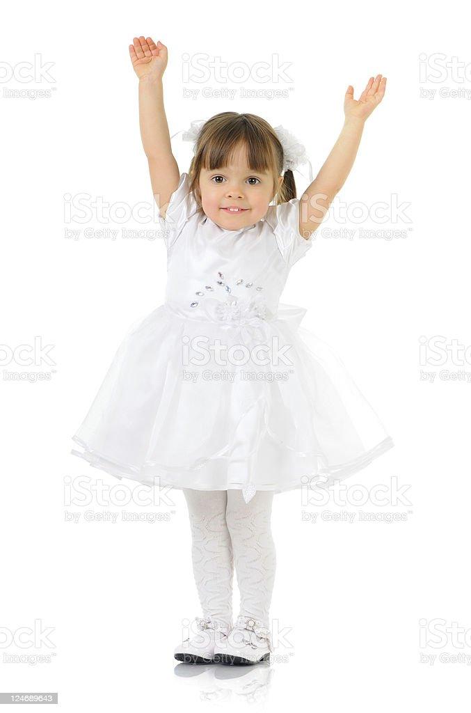White little princess royalty-free stock photo