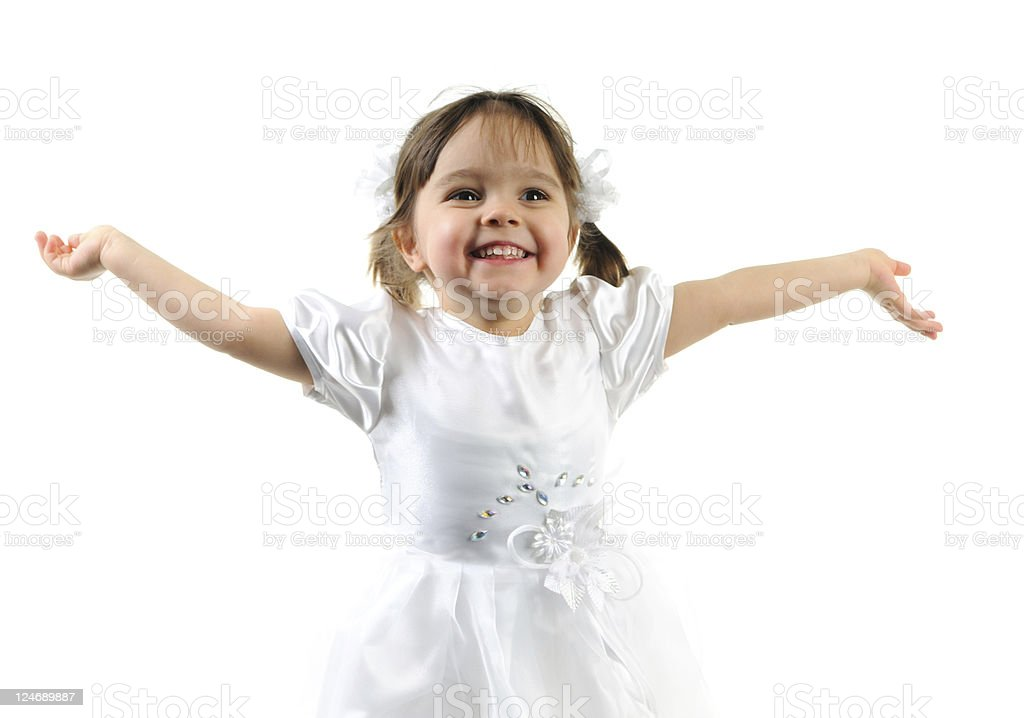 White little princess royalty-free stock photo