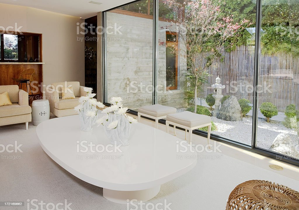 White Living Room royalty-free stock photo