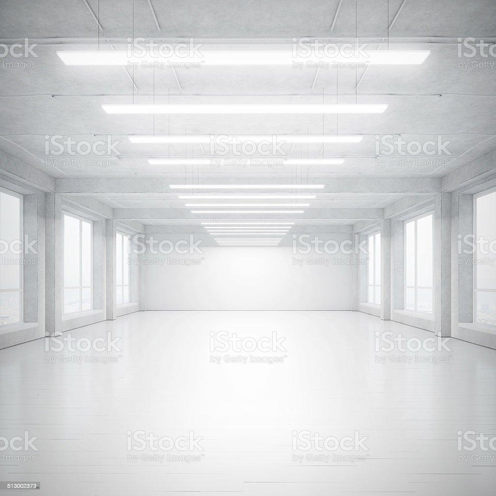 White loft stock photo