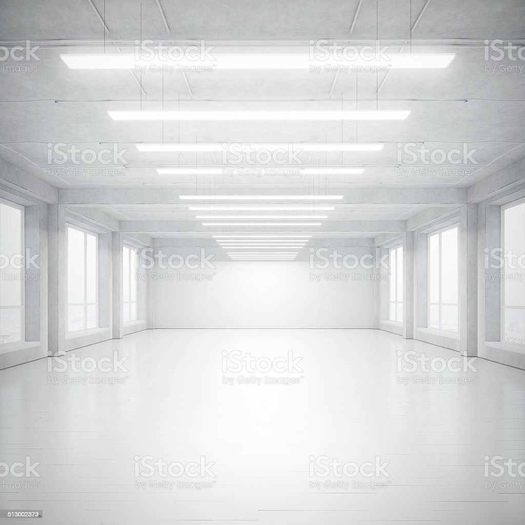 White loft stock photo