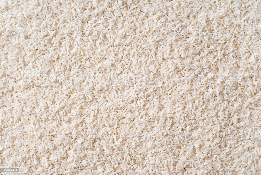 White long grain rice stock photo
