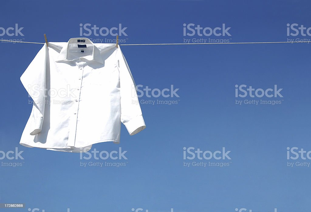 White Long Sleeve Shirt stock photo