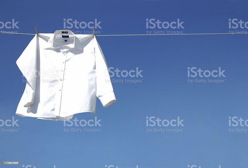 White Long Sleeve Shirt stock photo