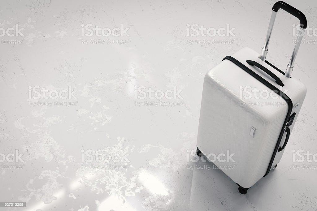 white luggage stock photo