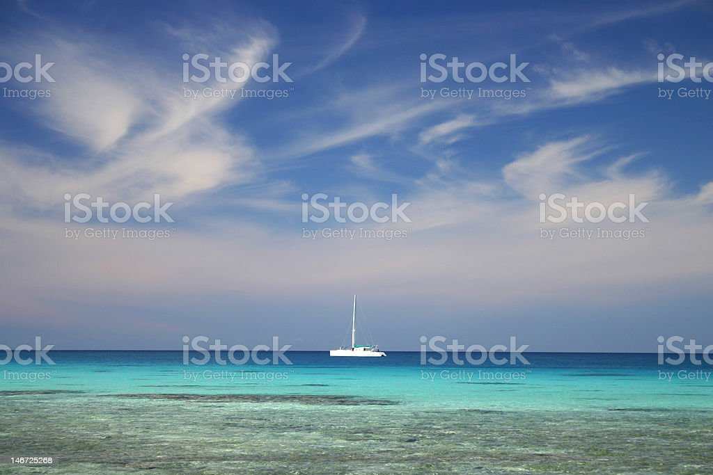 White luxury yacht royalty-free stock photo