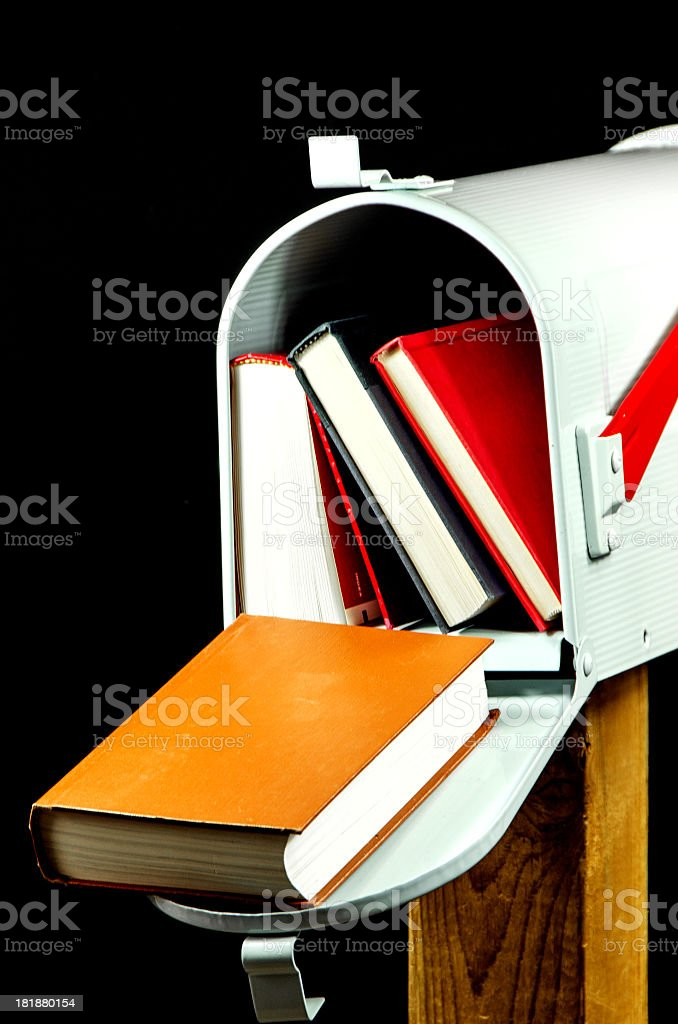White Mailbox on Black royalty-free stock photo