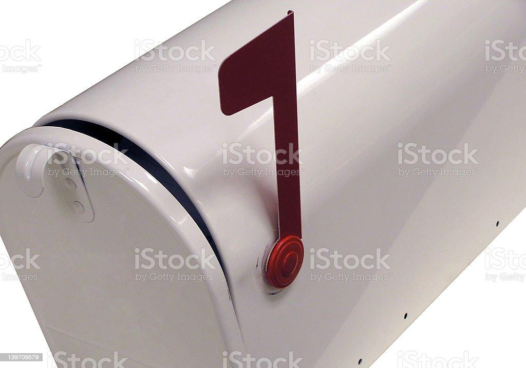 White Mailbox stock photo