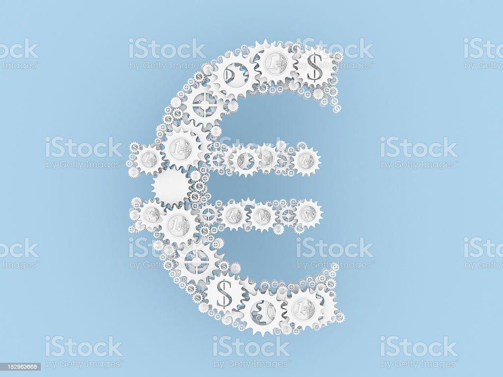 White make euro mechanism royalty-free stock photo