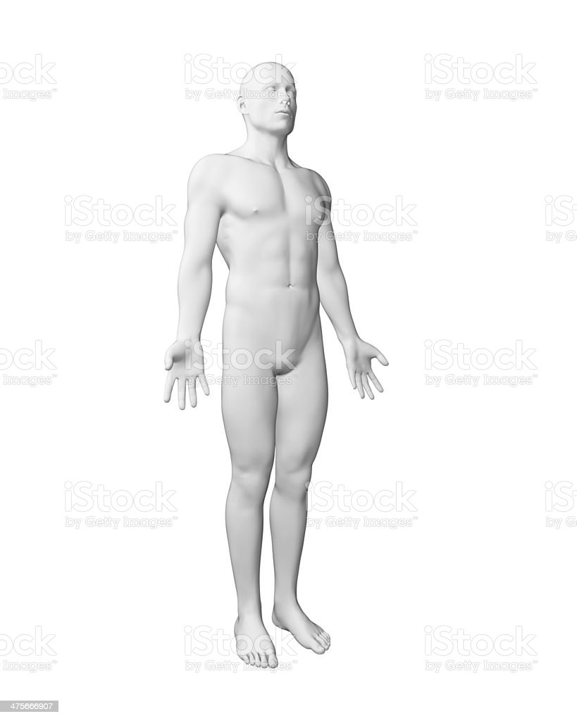 white male figure stock photo