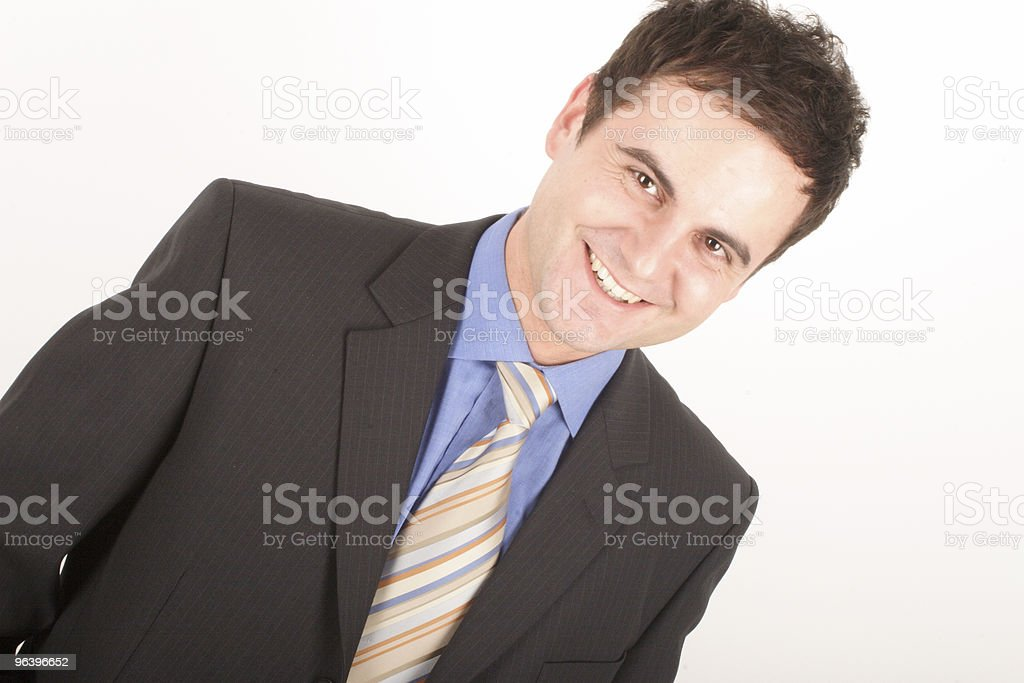 white man in suit portrait stock photo