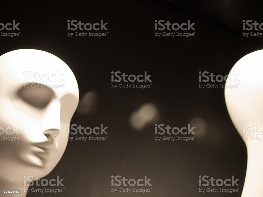 White Mannequin Heads stock photo