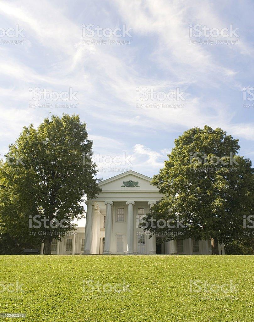 White Mansion stock photo