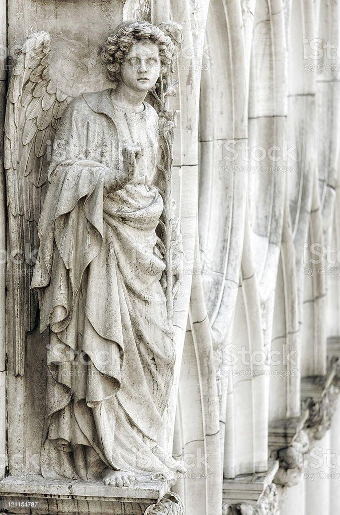 white marble angel stock photo