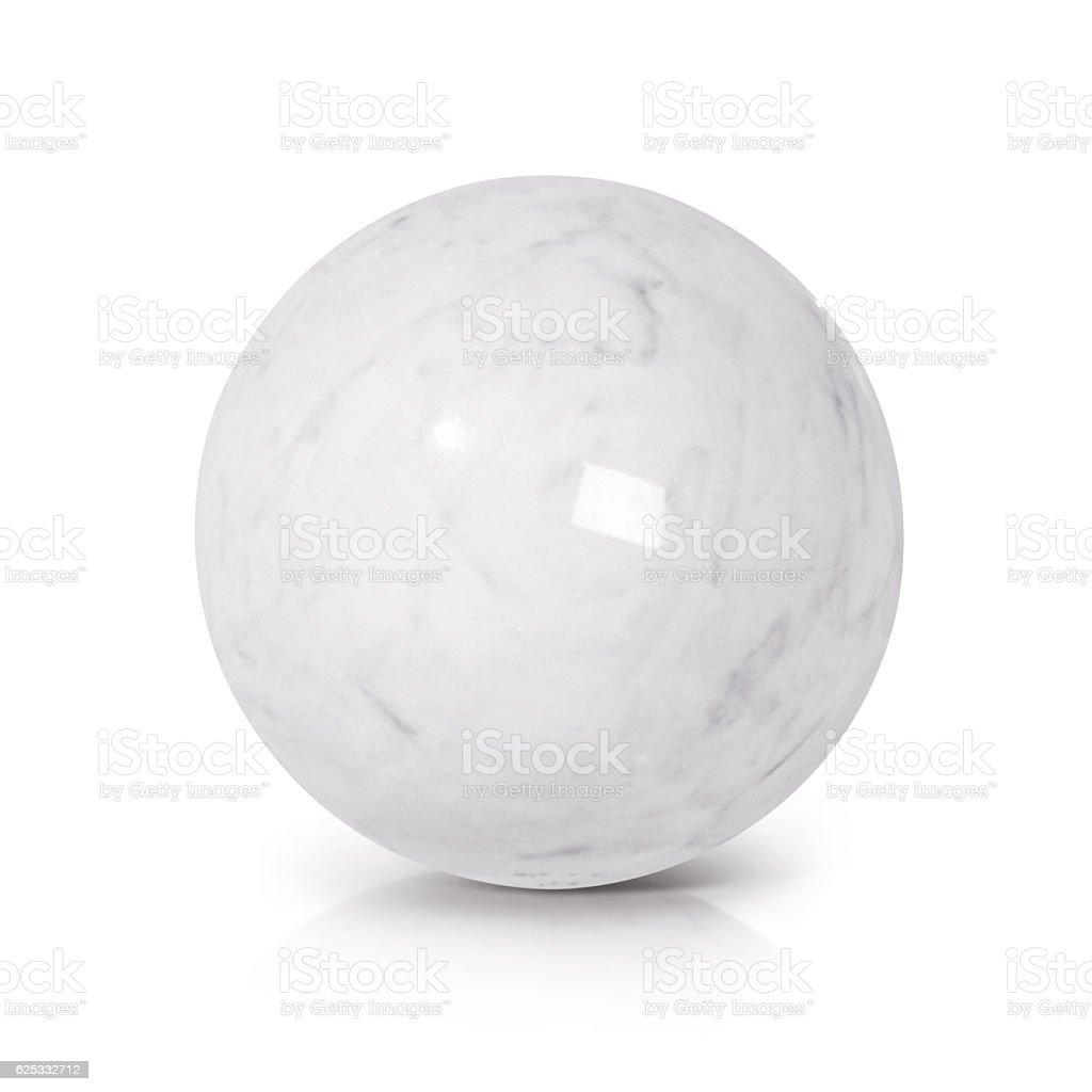 White Marble ball 3D illustration stock photo
