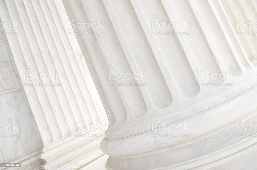 White Marble Column Background Close-Up stock photo