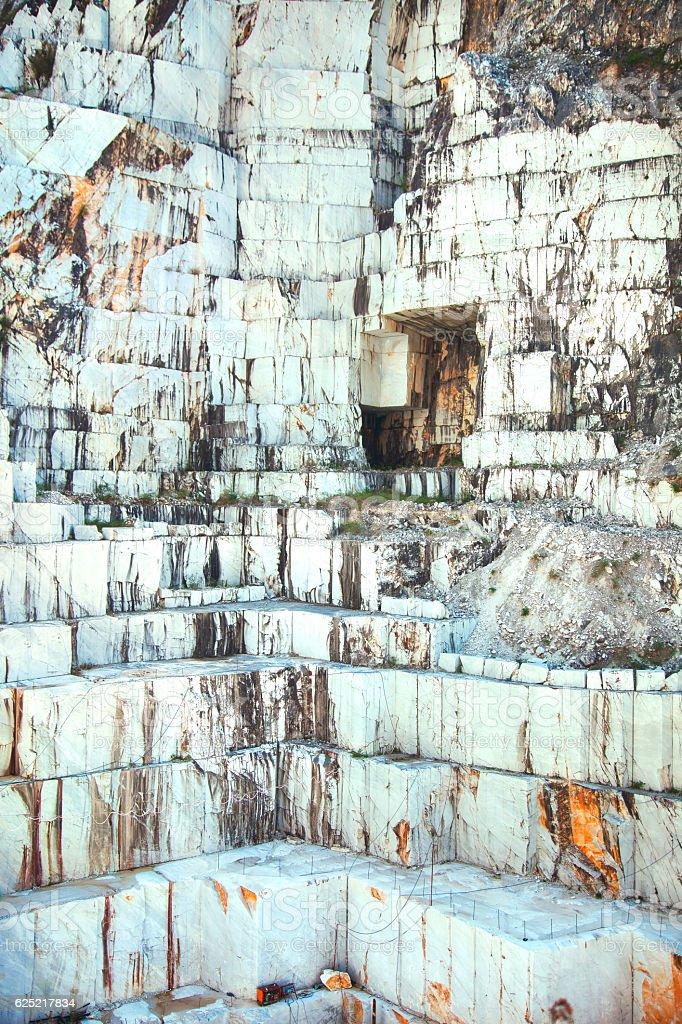 White marble quarry Carrara, Italy stock photo