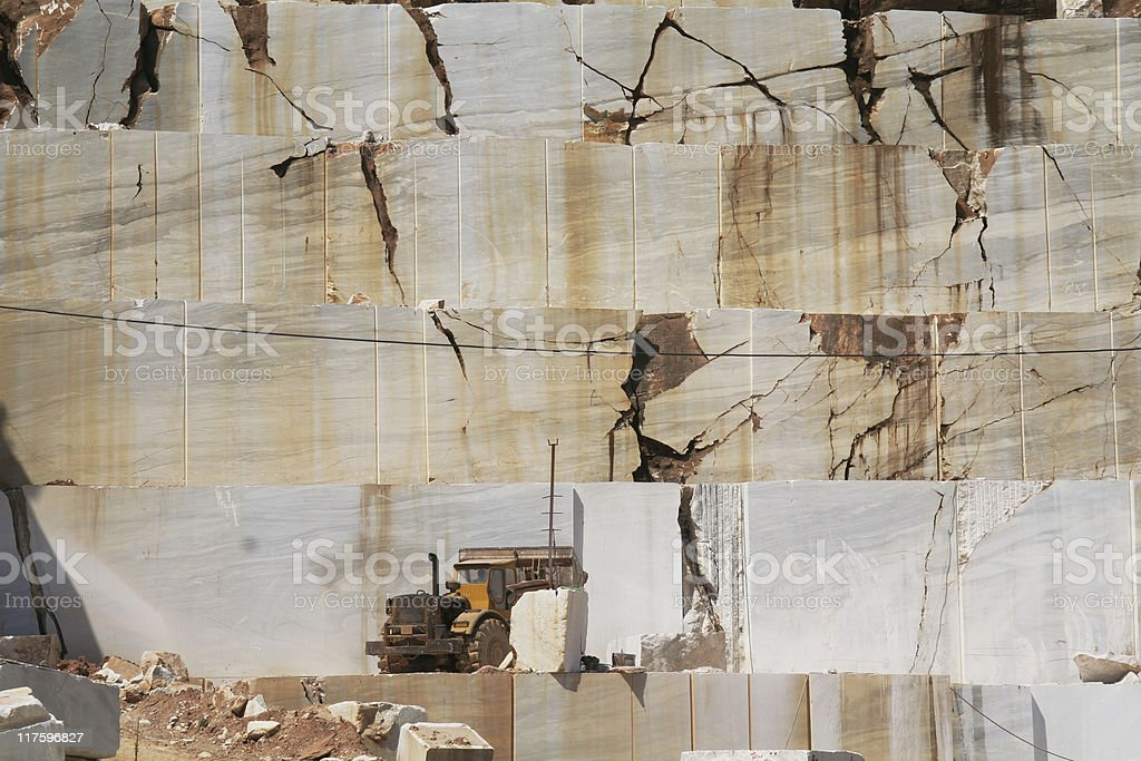 White Marble Quarry in Greece (Series) royalty-free stock photo