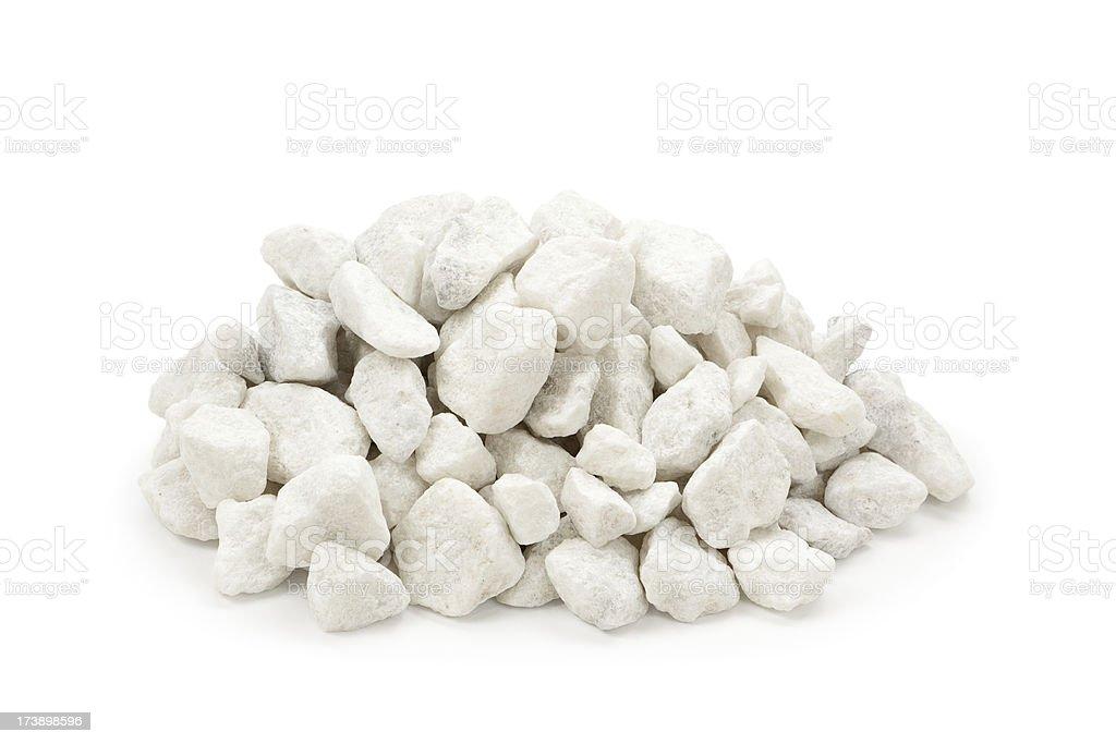 White Marble Rocks royalty-free stock photo