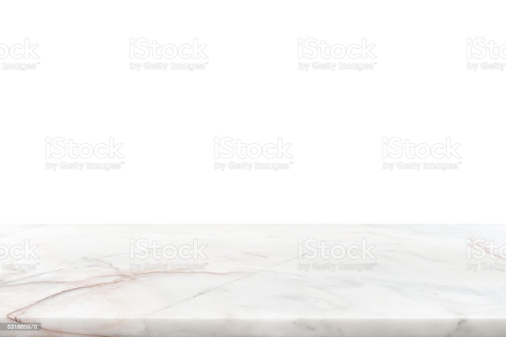 White marble stone counter top stock photo