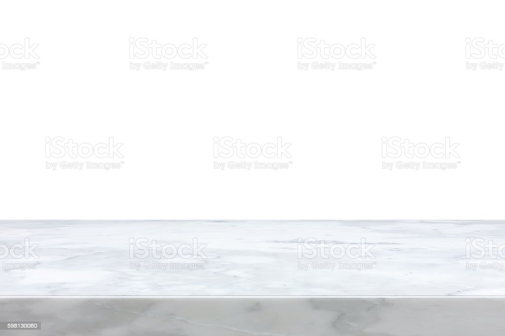 White marble stone countertop stock photo
