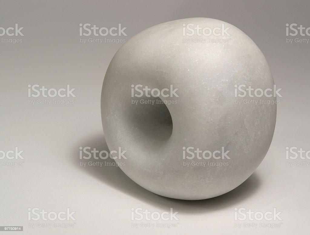 white marble stone sculpture stock photo