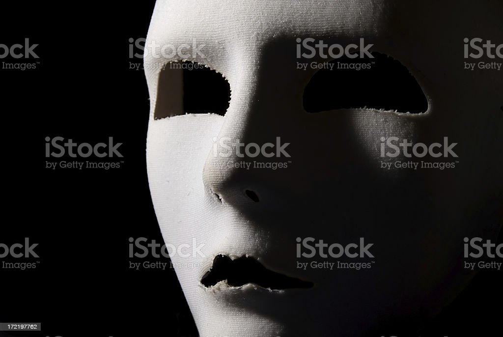 White mask royalty-free stock photo